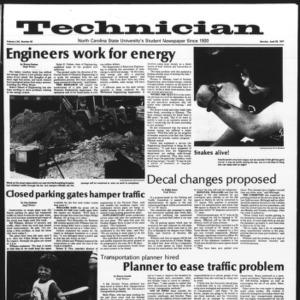 Technician, Vol. 57 No. 83, April 25, 1977