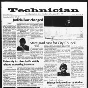 Technician, Vol. 58 No. 10, September 19, 1977