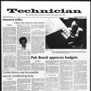 Technician, Vol. 58 No. 11, September 21, 1977