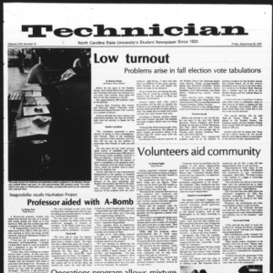 Technician, Vol. 58 No. 12, September 23, 1977