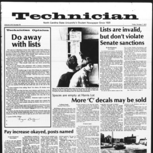 Technician, Vol. 58 No. 18, October 7, 1977