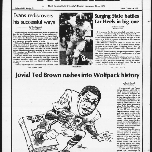 Technician, Vol. 58 No. 21, October 14, 1977, State Hosts Carolina Special