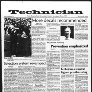 Technician, Vol. 58 No. 24, October 24, 1977