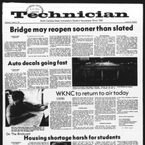 Technician, Vol. 58 No. 3, August 31, 1977