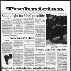 Technician, Vol. 58 No. 33, November 14, 1977
