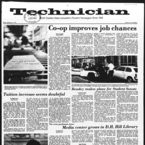 Technician, Vol. 58 No. 4, September 2, 1977