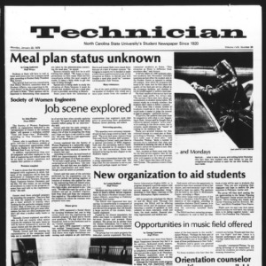 Technician, Vol. 58 No. 49, January 23, 1978