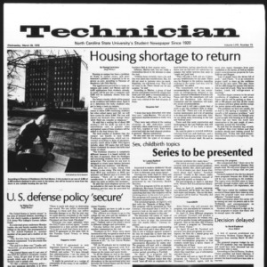 Technician, Vol. 58 No. 73, March 29, 1978