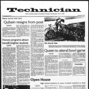 Technician, Vol. 58 No. 8, September 14, 1977