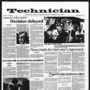 Technician, Vol. 58 No. 81, April 17, 1978