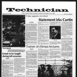 Technician, Vol. 58 No. 82, April 19, 1978
