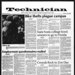 Technician, Vol. 58 No. 84, April 24, 1978