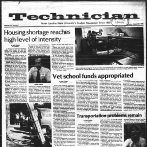 Technician, Vol. 59 No. 1, August 24, 1978
