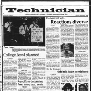 Technician, Vol. 59 No. 13, September 25, 1978
