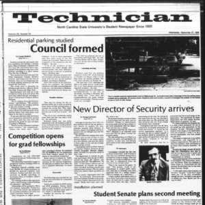 Technician, Vol. 59 No. 14, September 27, 1978