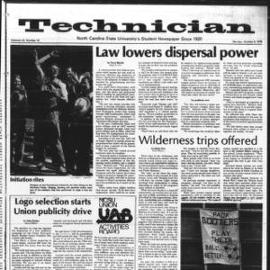 Technician, Vol. 59 No. 19, October 9, 1978