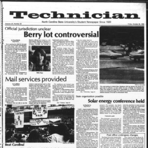 Technician, Vol. 59 No. 23, October 20, 1978