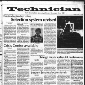 Technician, Vol. 59 No. 26 [25], October 27, 1978