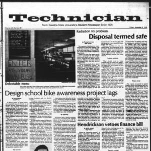 Technician, Vol. 59 No. 29 [28], November 3, 1978