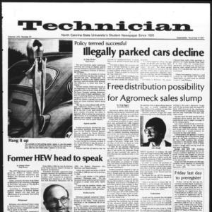 Technician, Vol. 59 No. 31 [Vol. 58 No. 31], November 9, 1977