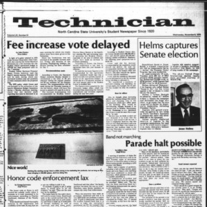 Technician, Vol. 59 No. 31 [30], November 8, 1978