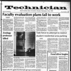 Technician, Vol. 59 No. 39 [38], December 1, 1978