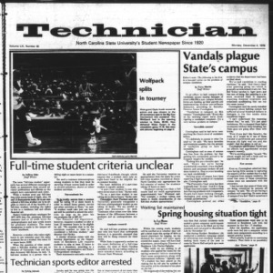 Technician, Vol. 59 No. 40 [39], December 4, 1978