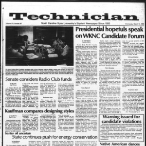 Technician, Vol. 59 No. 67, March 14, 1979