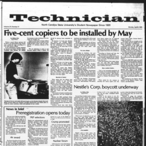 Technician, Vol. 59 No. 77, April 9, 1979