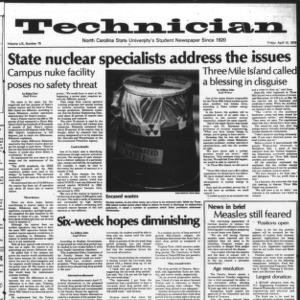 Technician, Vol. 59 No. 79, April 13, 1979