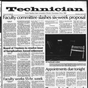 Technician, Vol. 59 No. 80, April 18, 1979