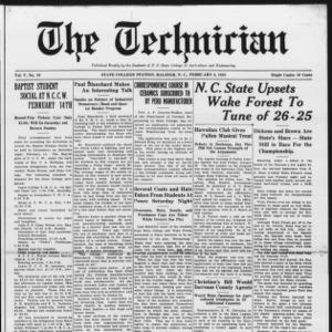 Technician, Vol. 5 No. 19, February 6, 1925