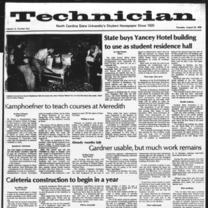 Technician, Vol. 60 No. 1, August 23, 1979