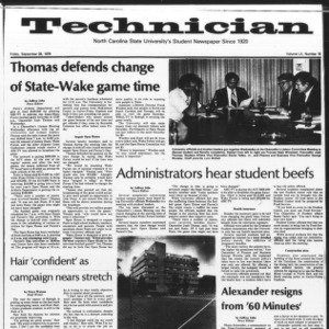 Technician, Vol. 60 No. 15, September 28, 1979