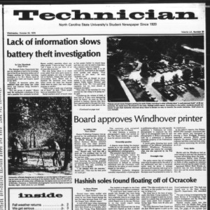Technician, Vol. 60 No. 25, October 24, 1979