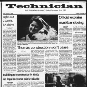 Technician, Vol. 60 No. 26, October 26, 1979