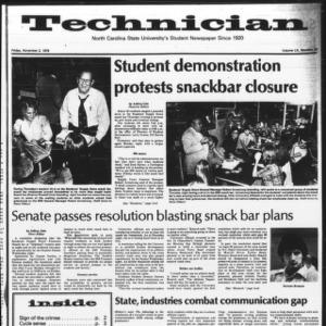 Technician, Vol. 60 No. 29, November 2, 1979