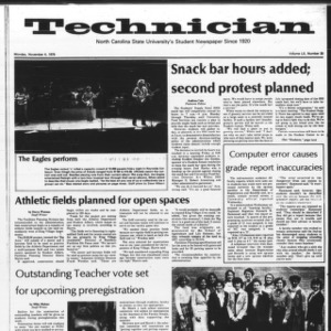 Technician, Vol. 60 No. 30, November 4, 1979