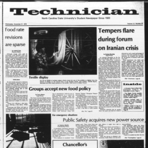 Technician, Vol. 60 No. 37, November 21, 1979