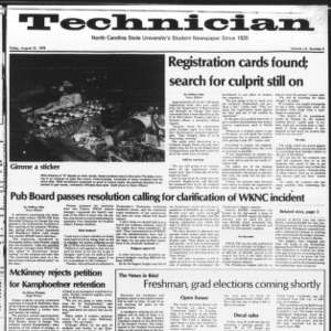 Technician, Vol. 60 No. 4, August 31, 1979