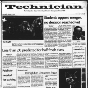 Technician, Vol. 60 No. 42, December 5, 1979