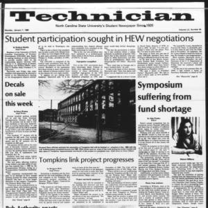 Technician, Vol. 60 No. 44, January 7, 1980