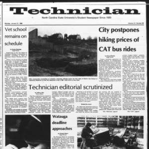 Technician, Vol. 60 No. 50, January 21, 1980