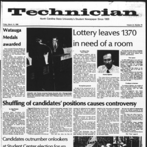 Technician, Vol. 60 No. 70, March 14, 1980