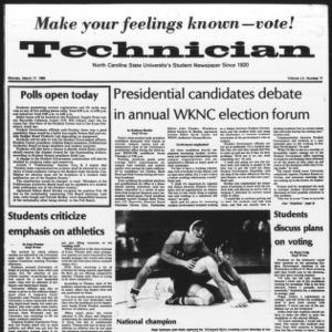 Technician, Vol. 60 No. 71, March 17, 1980