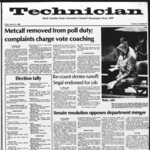 Technician, Vol. 60 No. 73, March 21, 1980