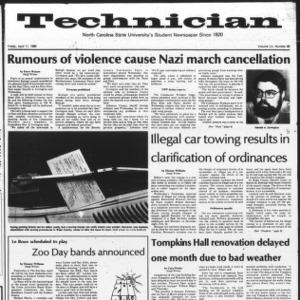 Technician, Vol. 60 No. 80, April 11, 1980