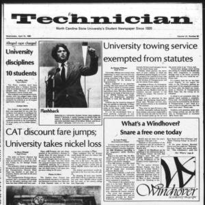 Technician, Vol. 60 No. 82, April 16, 1980