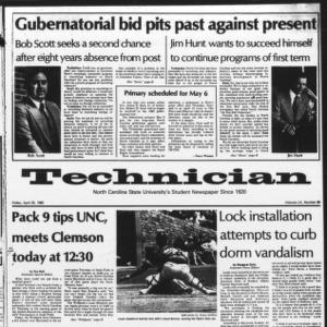 Technician, Vol. 60 No. 86, April 25, 1980