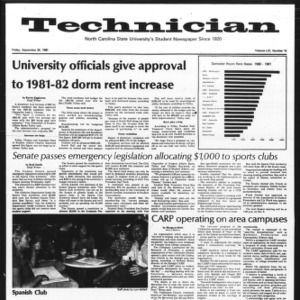 Technician, Vol. 61 No. 15, September 26, 1980